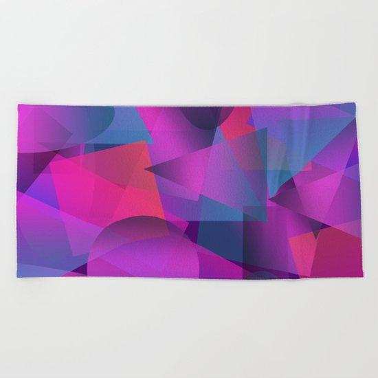 Abstract cube Beach Towel