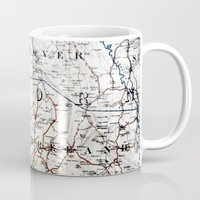 jamaica Mugs featuring Map Section: Jamaica by Shaunia McKenzie