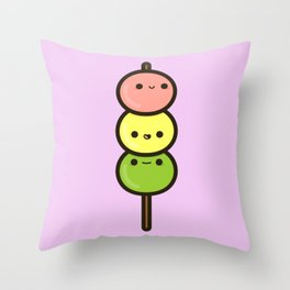 Cute Dango Throw Pillow