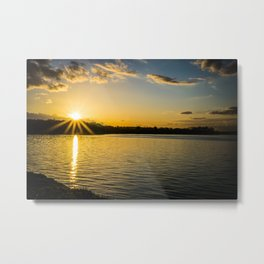 Sundown At Lake Heve 3 Metal Print