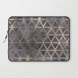 Geometric Gold Watercolor Triangles Abstract Pattern Laptop Sleeve