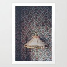 Corner lamp Art Print