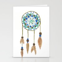 dream catcher Stationery Cards featuring Dream Catcher by Kayla Gordon