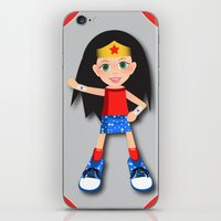 girl power iPhone & iPod Skins featuring Girl Power by Vannina