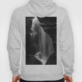 Black and white waterfall long exposure Hoody