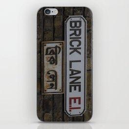 Brick Lane Street Sign iPhone Skin