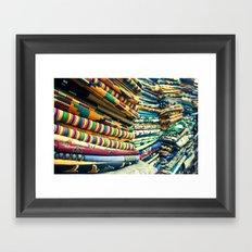 Kente Store Framed Art Print