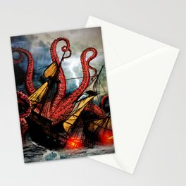 In the Grasp of the Storm Stationery Cards