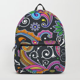 Oriental Persian Paisley - Green Pink Blue Yellow Backpack