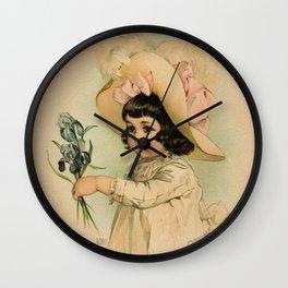 French Girl Maud Humphrey Wall Clock