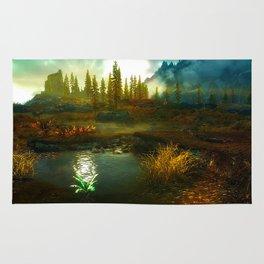 Landscape of Skyrim Rug