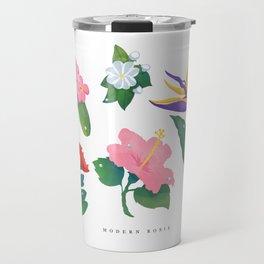 Flowers of Hawaii Travel Mug