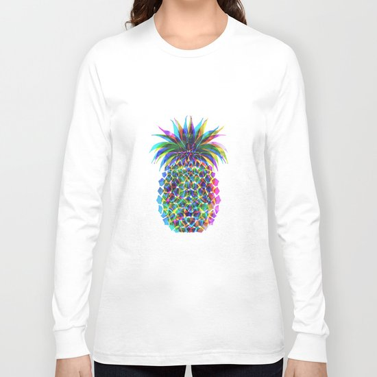 Pineapple CMYK Long Sleeve T-shirt