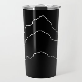 Tallest Mountains in the World / Mt Everest K2 Kanchenjunga / B&W Minimalist Line Drawing Art Print Travel Mug