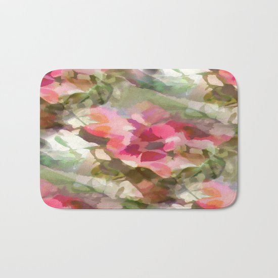 Floral Design Bath Mat