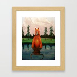 unbearabull market Framed Art Print