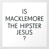 Macklemore Jesus Art Print