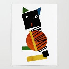 Black Square Cat - Suprematism Poster
