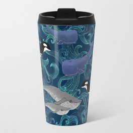 Beautiful Ocean Giants - teal Travel Mug