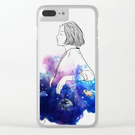 Night stories. Clear iPhone Case
