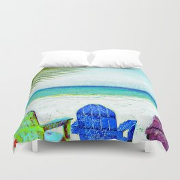 Casey Key Beach Life Duvet Cover