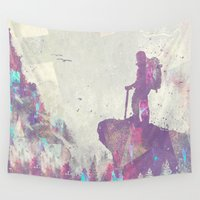 parks and recreation Wall Tapestries featuring Explorers I by HappyMelvin