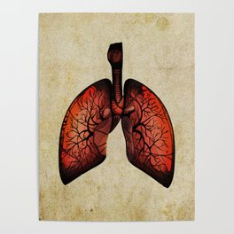 Lungs art - Tree inspiration Poster