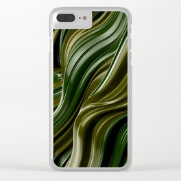 Green Wave Clear iPhone Case