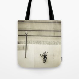 Bicycle Below Tote Bag