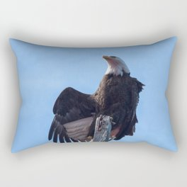 Alaskan Eagle Photography Print Rectangular Pillow