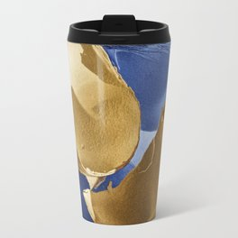 Broken Egg Shell on Blue with Feather Travel Mug