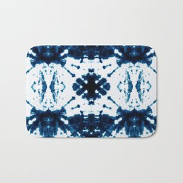 Velvet Shibori Blue Bath Mat