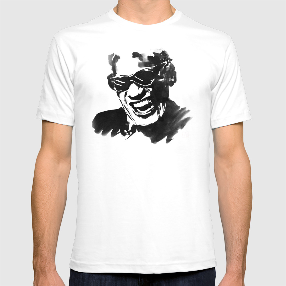 Ray Charles T-shirt by Pechanesumie TSR8761571