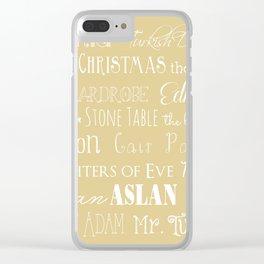 Narnia Celebration- oat Clear iPhone Case
