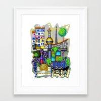 vienna Framed Art Prints featuring Vienna  by Aleksandra Jevtovic