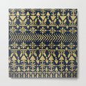 Norwegian Pattern – Gold on Navy by catcoq