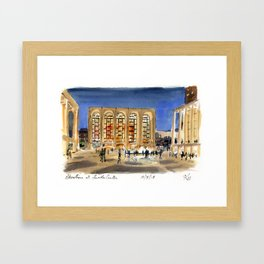 Lincoln Center at Night Framed Art Print