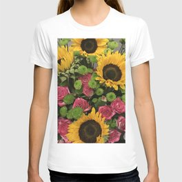 Sunflowers and Little Red Roses T-shirt