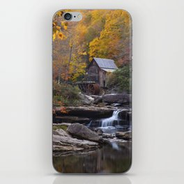 Glade Creek Grist Mill in Autumn II iPhone Skin