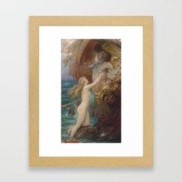 A Deep Sea Idyll by Herbert James Draper Framed Art Print