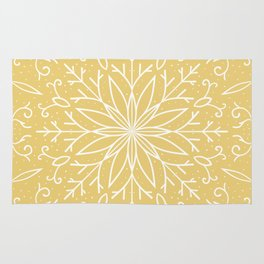 Single Snowflake - Yellow Rug