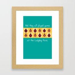 Ladybug Picnic Framed Art Print