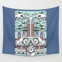 Three of Pentacles Wall Tapestry