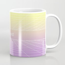 Love & Exist - 3D Dimensional Wireframe Plane of Existence Pastel Surreal Design Coffee Mug