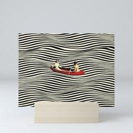 Illusionary Boat Ride Mini Art Print