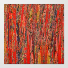 lines of red yellow Canvas Print