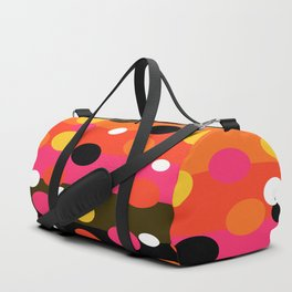 Earth and Summer Sky - Color Strips with Circles Duffle Bag