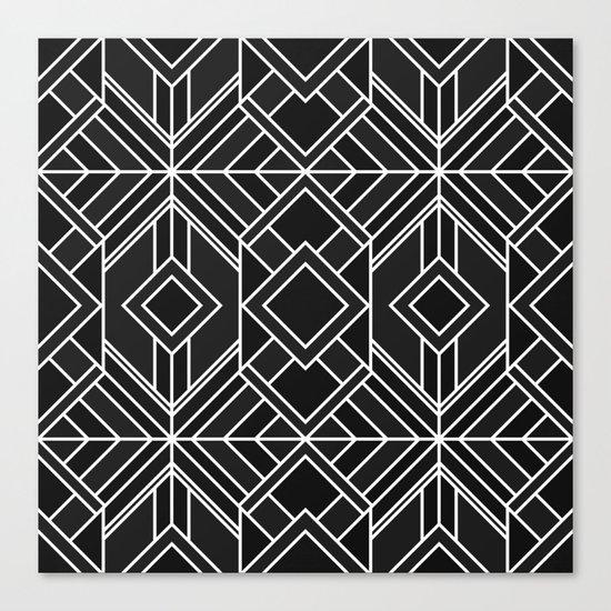 Geo Black Canvas Print