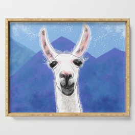 Llama Yama Smiling Serving Tray