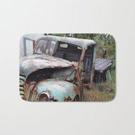 American Truck Wreck, New Plymouth, New Zealand Bath Mat